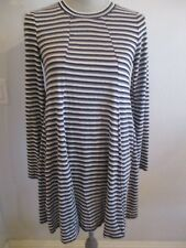 NWT BCBG SMALL MULTI COLOR STRIPED TUNIC TOP  LONG SLEEVES OPEN BACK MSRP $78.00