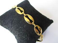 bracelet bijou vintage maillons grain de café grande taille couleur or 361