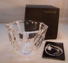 "ORREFORS Residence Olle Alberius Crystal Bowl 4.75"" in Original Box  Sweden"
