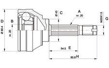 OPEN PARTS Juego de articulación árbol transmisión Lado rueda CVJ5001.10