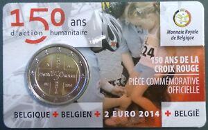 Coincard 2 euro België 2014 150 jaar Rode Kruis Waalse voorzijde