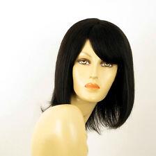perruque femme 100% cheveux naturel noir ref LISE 1b
