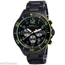 Marc-Jacobs Men's MBM5026 Black Rock IP Chronograph Black Dial Watch