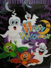 """halloween party /loot bags6.5"""" x 9"""" spooky ghosts,bats and ghouls 16 in a pack"""