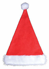 Santa Father Christmas Xmas Hat Red with White Fur Trim