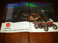 1985 SUZUKI GS1150 E/ES - ORIGINAL 2 PAGE AD GS-1150