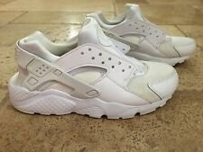Nike Air Huarache White Athletic Shoes Youth Size 6
