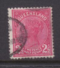 Qld: 1890 2 1/2d Carmine Looks Aliline Sg 191 Fine Used