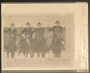 1949 AP Wirephoto-Four Horsemen Of Notre Dame 25th Anniversary