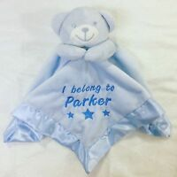 Personalised Embroidered Teddy Bear Baby Comforter Snuggle Blanket Gift Newborn