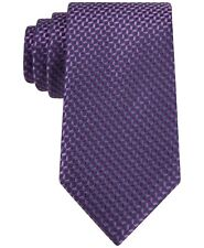 MICHAEL KORS Silk Linked Hexagon Purple Neat Tie New Free Shipping