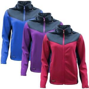 Womens Water Resistant Windproof Soft Shell Jacket Walking Hiking