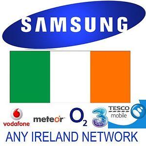 SAMSUNG GALAXY A71 A70 S20+ S10+ NOTE 20+ UNLOCK CODE IRELAND VODAFONE O2 METEOR
