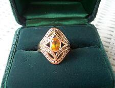 FABERGE 1989 $3000.00 14K GOLD RING 58 DIAMONDS 1 SAPPHIRE SZ 12 NEW LOW PRICE