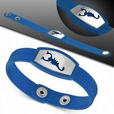 Bracelet homme watch caoutchouc bleu scorpion