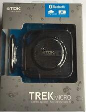 TDK Trek Micro Water Resistant Portable Bluetooth Speaker - NEW / Black