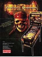 STERN Pirates of the Caribbean pinball flyer brochure pamphlet. Year 2006.