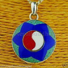 """Amulett """"Beste Qualität"""" Anhänger Edel Mandala Perlmutt Silberschmuck Nepal 149"""