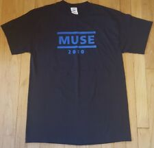 New 2010 MUSE shirt M black concert tour radiohead the killers coldplay NWOT