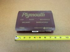 1966 Plymouth Color Upholstery Dealer Album paint chips fabric Belvedere VIP