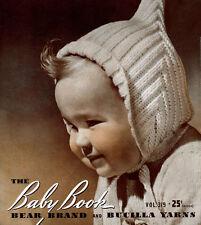 Bear Brand & Bucilla #319 c.1941 Baby Book Vintage Patterns in Knitting Crochet