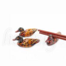 2PCS Cute Duck Chopstick Stand Rest Rack Spoon Fork Chopsticks Holder Decor
