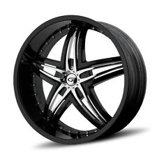 22 inch 22x9.5 Gianna Blitz Black wheel rim 5x130 +40