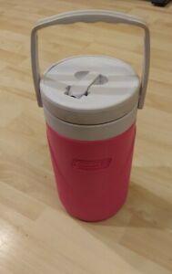 COLEMAN 1/2 Gallon Pink & White Beverage Cooler model #6009