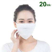 20ST Damen Herren 3-lagig Baumwolle Masken Gesundheit Staubschutz Mund Waschbar