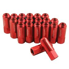M14X1.5 60MM EXTENDED FORGED ALUMINUM TUNER RACING LUG NUT RED 20PC NEW