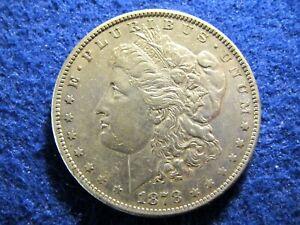 1878 S Morgan Silver Dollar - Scarcer - Lustrous Light Toned Extra Fine   Read