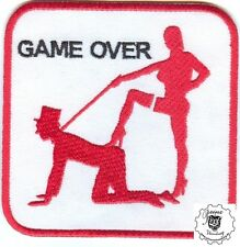 GAME OVER Patch Aufnäher Biker sexy Vintage sadomaso