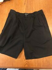 STK425 Izod XFG Men's Size 34 Black Polyester Golf Classic Chinos Shorts