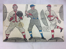 Vintage 1900's Arcade Card 3 Baseball Players Paper Toy Ex. Sup. Co. Chicago