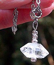 Large Herkimer Diamond Quartz Crystal Pendant - Ascension  Divine Blueprint EMF