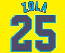 Zola #25 Chelsea 1996-1997 Away Football Nameset for shirt CFC