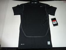 new black Nike Dri-FIT Swoosh boy's  Tennis T-Shirt large L dry fit dri