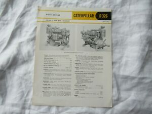 CAT Caterpillar D326 engine specification sheet brochure