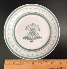 Vintage ARABIA Finland, GREEN THISTLE, 5-3/4 inch Bread Plate, Hand Painted