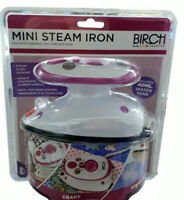 Birch Mini Steam Iron ~Travel Crafts or quilting ~ BRAND NEW STOCK  PINK
