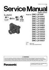 Panasonic Lumix DMC-LX100 4K Digital Camera Service Manual & Repair Guide
