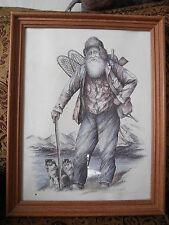 RARE 1988 Alaska Prospector Huskey Sled Dog Signed PICTURE Seal Doug LINDSTRAND