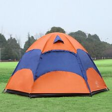 New Camping Tent 3-5 Person 4 Season Double Layer Sunshade Travel Hiking Tent