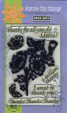 A Million Thanks - Clear Stamps - Hero Arts