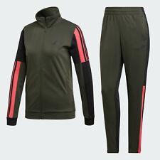 adidas Womens 3-Stripes Team Sports Tracksuit dark grey