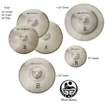 Agean Cymbals R-Series Low Volume Multiple Cymbal Set 14HH/16+18CR/20R/10SP+16CH
