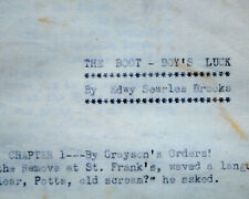 More details for edwy searles brooks: original manuscript for nelson lee library 1928. st frank's