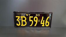 New York 1930 License Number Plate Custom Embossed/Pressed plaque bouclier