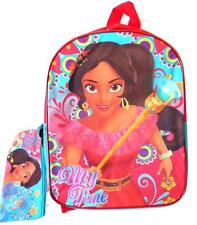 """Disney Princess Elena of Avalor Large Backpack 15"""" with Pencil Case New"""