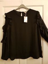 Black Blouse Size 20. Anthology. JD Williams. New With Tag.